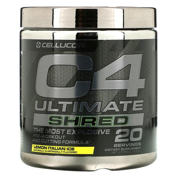 Cellucor, C4 Ultimate Shred, Pre-Workout, Lemon Italian Ice, 12.3 oz (350 g)