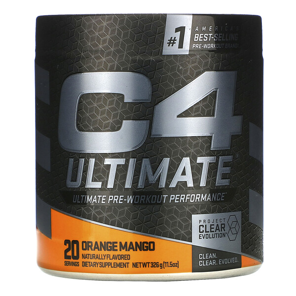 C4 Ultimate Pre-Workout Performance, Orange Mango, 11.5 oz (326 g)