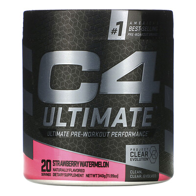 Cellucor C4 Ultimate Pre-Workout Performance, Strawberry Watermelon, 11.99 oz (340 g)