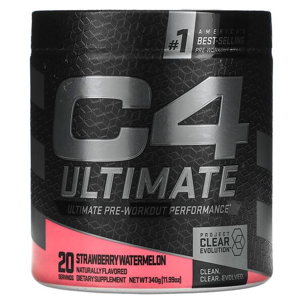 C4 Ultimate Pre-Workout Performance, предтренировочный комплекс, клубника и арбуз, 340г (11,99унции)