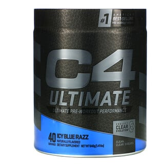 Cellucor, C4 Ultimate Pre-Workout Performance, Icy Blue Razz, 1.41 lbs ( 640 g)