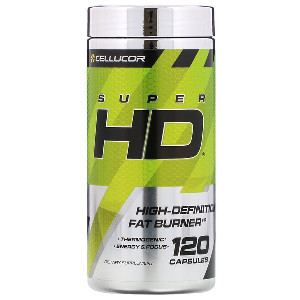 Cellucor, Super HD, High-Definition Fat Burner, 120 Capsules