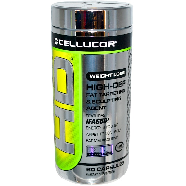 Cellucor, Super HD, Weight Loss, High-Def Fat Targeting & Sculpting Agent, 60 Capsules (Discontinued Item)