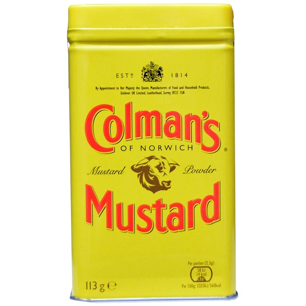 Colman's, Double Superfine Mustard Powder, 4 oz (113 g) (Discontinued Item)
