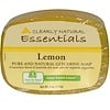 Clearly Natural, Essentials, jabón de glicerina puro y natural, limón, 113 g (4 oz)
