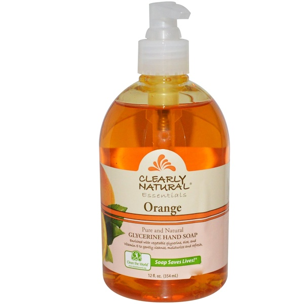 Clearly Natural, Essentials, Glycerine Hand Soap, Orange, 12 fl oz (354 ml)