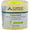 Clearly Natural, jabón de glicerina pura y natural para manos, sin aroma, paquete de 3 barras, 4 oz c/u