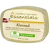 Clearly Natural, Essentials, Pure and Natural Glycerine Soap, Almond, 4 oz (113 g)