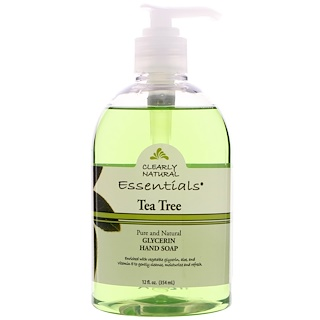 Clearly Natural, Glycerin Hand Soap, Tea Tree, 12 fl oz (354 ml)