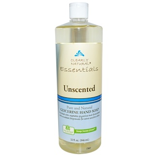 Clearly Natural, Essential, Glycerine Hand Soap, Unscented, 32 fl oz (946 ml)