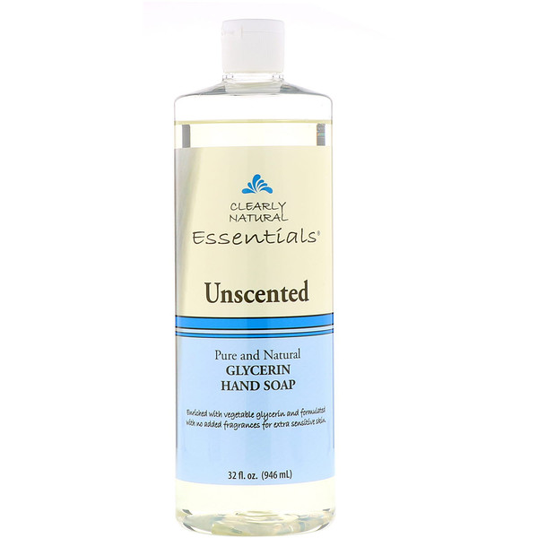Clearly Natural, Glycerin Hand Soap, Unscented, 32 fl oz (946 ml)