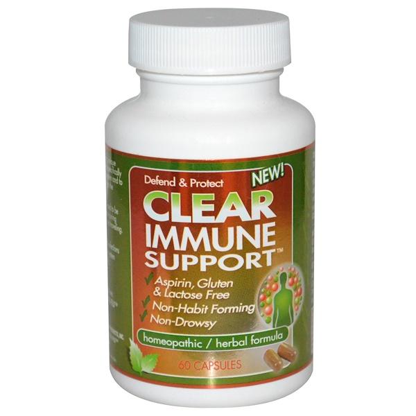 Clear Products, Поддержка иммунитета, 60 капсул (Discontinued Item)