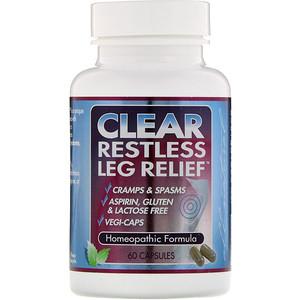 Клир Продактс, Clear Restless Leg Relief, 60 Capsules отзывы