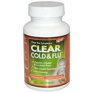Clear Products, Clear Cold & Flu, 60 Capsules