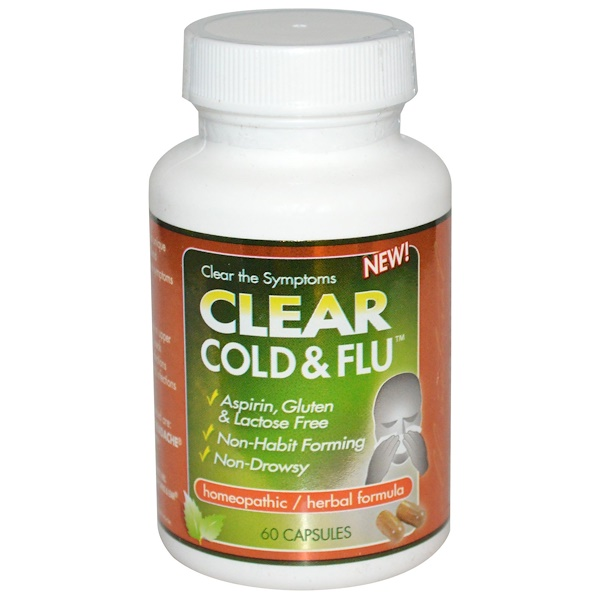 Clear Products, Clear Cold & Flu, 60 капсул (Discontinued Item)
