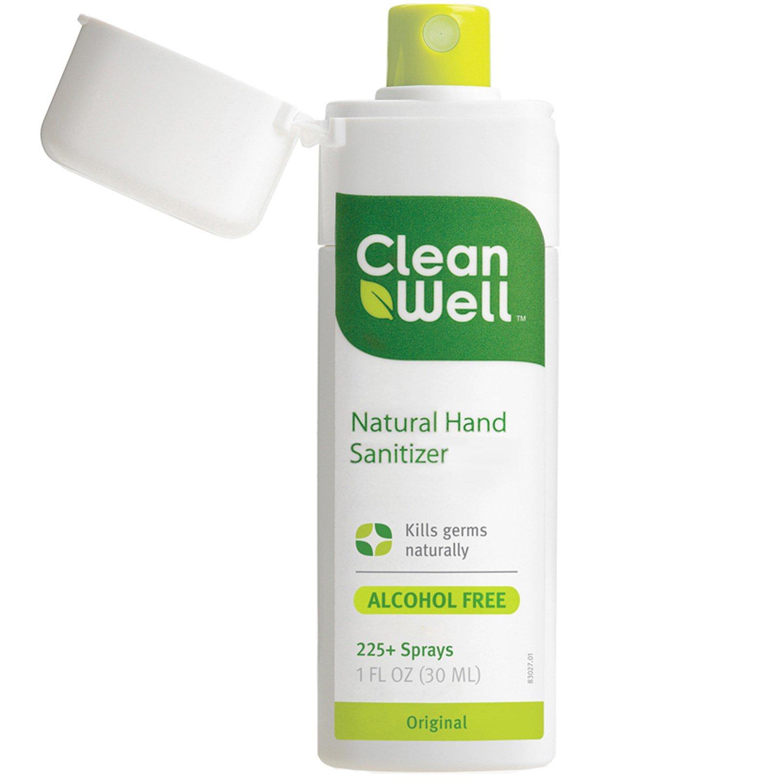 Clean Well, Натуральный антисептик для рук, без алкоголя, оригинальный, 30 мл