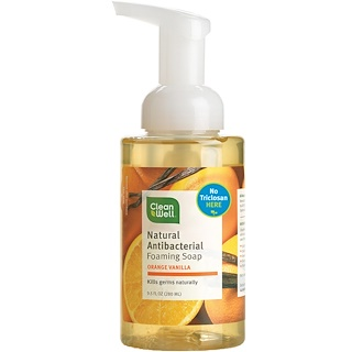 Clean Well, Natural Antibacterial Foaming Soap, Orange Vanilla, 9.5 fl oz (280 ml)
