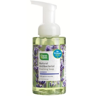 CleanWell, Natural Antibacterial Foaming Soap, Lavender, 9.5 fl oz (280 ml)