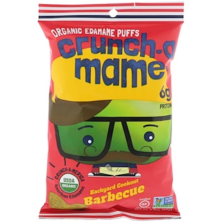 Crunch-A-Mame, Organic Edamame Puffs, Backyard Cookout Barbecue, 3.5 oz (99 g)