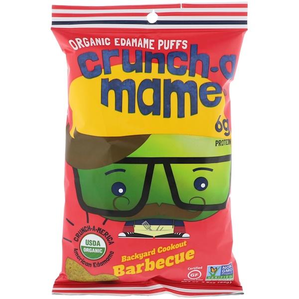 Crunch-A-Mame, Organic Edamame Puffs, Backyard Cookout Barbecue, 3、5 oz (99 g)