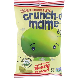 Crunch-A-Mame, Organic Edamame Puffs, Savory Seasoned Nearly Naked, 3.5 oz (99 g)