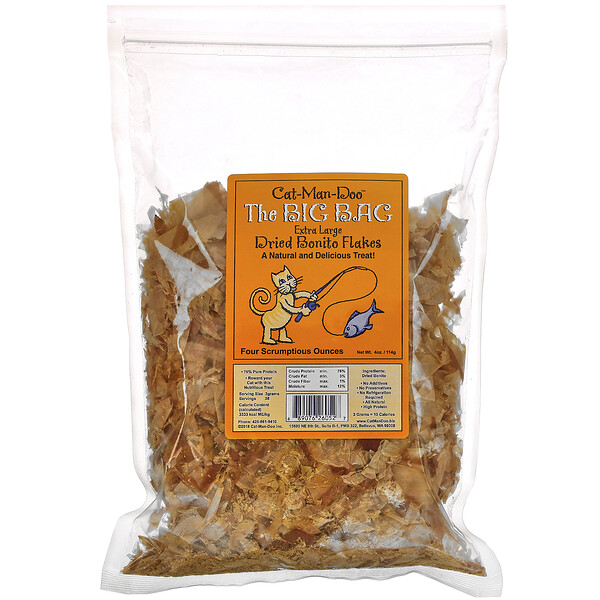 The Big Bag, Extra Large Dried Bonito Flakes for Cats, 4 oz (114 g)