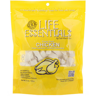 Cat-Man-Doo, Life Essentials, Freeze Dried Chicken, For Cats & Dogs, 5 oz (142 g)