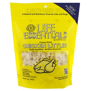 Cat-Man-Doo, Life Essentials, trocitos de pollo deshidratado congelado, 5 oz (142 g)