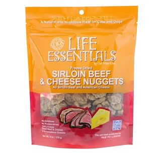 Cat-Man-Doo, Life Essentials, gefriergetrocknete Rinderlende und Käse-Nuggets, für Katzen und Hunde, 6 oz (170 g)