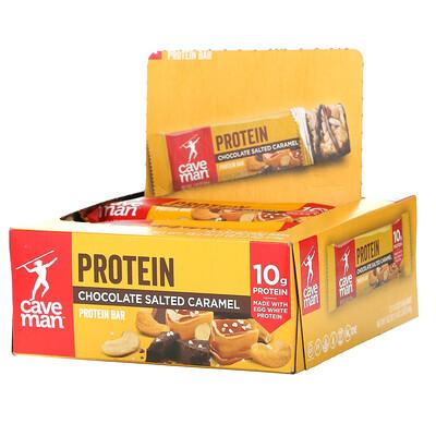 Caveman Foods Protein Bars, Chocolate Salted Caramel, 12 Bars, 1.52 oz (43 g) Each