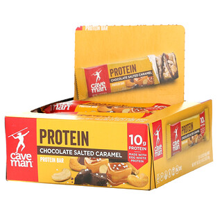 Caveman Foods, Protein Bars, Chocolate Salted Caramel, 12 Bars, 1.52 oz (43 g) Each