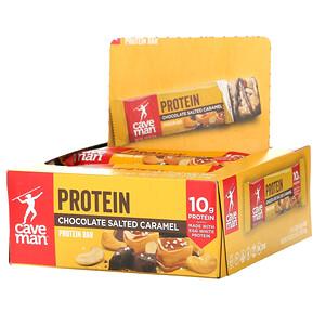 Caveman Foods, Protein Bars, Chocolate Salted Caramel, 12 Bars, 1.52 oz (43 g) Each'