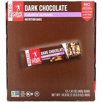 Caveman Foods, Nutrition Bars, Dark Chocolate, Cashew Almond, 12 Bars, 1.41 oz (40 g) Each