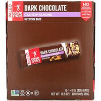 Caveman Foods, Nutrition Bars, Dark Chocolate, Cashew Almond, 12 Bars, 1.41 oz (40 g) Each