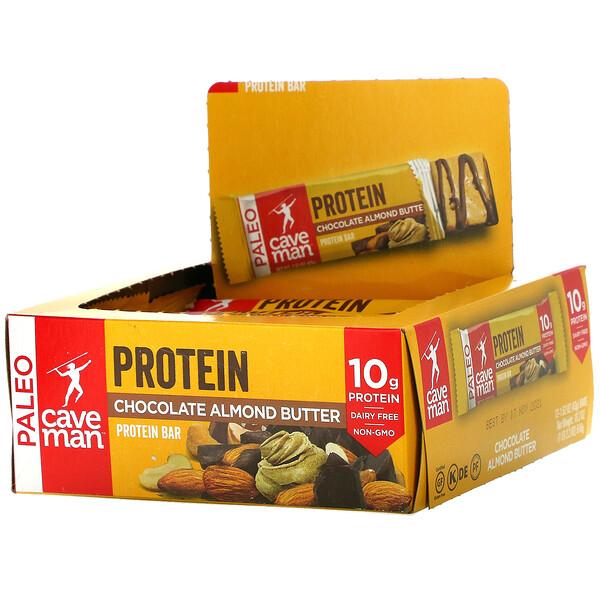 Protein Bar, Chocolate Almond Butter, 12 Bars, 1.52 oz (43 g) Each