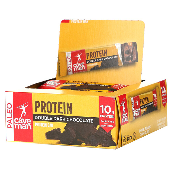 蛋白棒,双重黑巧克力,12 根,每根 1.52 盎司(43 克)