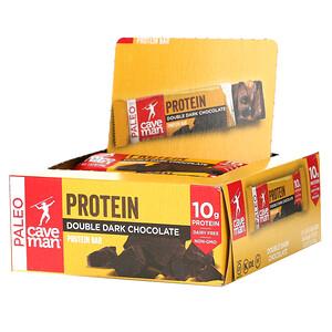 Caveman Foods, Protein Bar, Double Dark Chocolate, 12 Bars, 1.52 oz (43 g) Each'