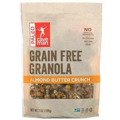 Caveman Foods Grain Free Granola, Almond Butter Crunch, 7 oz (198 g)