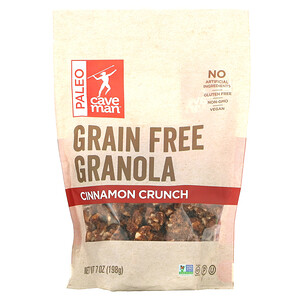 Caveman Foods, Grain Free Granola, Cinnamon Crunch, 7 oz (198 g)
