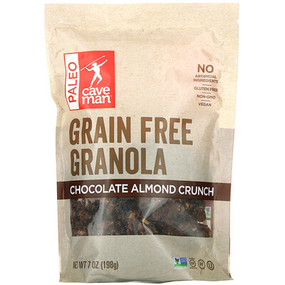 Caveman Foods Grain Free Granola, Chocolate Almond Crunch, 7 oz (198 g)
