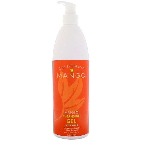 California Mango, 芒果清潔凝膠沐浴露,16、9液量盎司(500毫升)