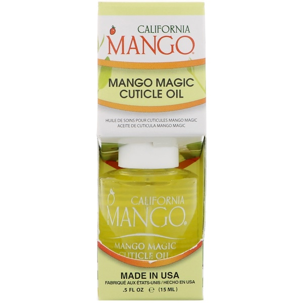 California Mango, Mango Magic Aceite para cutícula, 0.5 fl oz (15 ml) (Discontinued Item)
