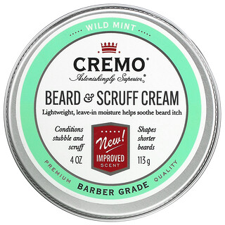 Cremo, Beard & Scruff Cream, Wild Mint,  4 oz (113 g)