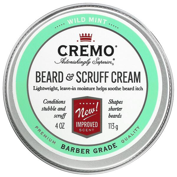 Beard & Scruff Cream, Wild Mint,  4 oz (113 g)