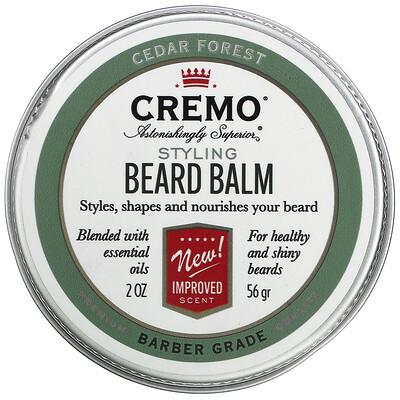 Cremo Styling Beard Balm, Cedar Forest, 2 oz (56 g)