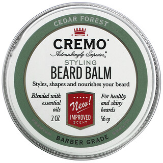 Cremo, Styling Beard Balm, Cedar Forest, 2 oz (56 g)