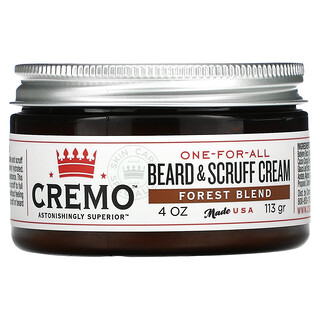 Cremo, One-For-All Beard & Scruff Cream, Forest Blend, 4 oz (113 g)