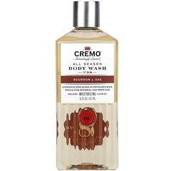 Cremo, All Season,沐浴露,8 號,波本威士卡和橡木,16 液量盎司(473 毫升)