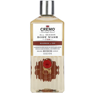 Cremo, All Season, Body Wash, No. 8, Bourbon & Oak, 16 fl oz (473 ml)