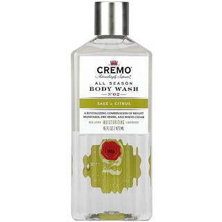 Cremo, All Season, Body Wash, No. 2, Sage & Citrus, 16 fl oz (473 ml)